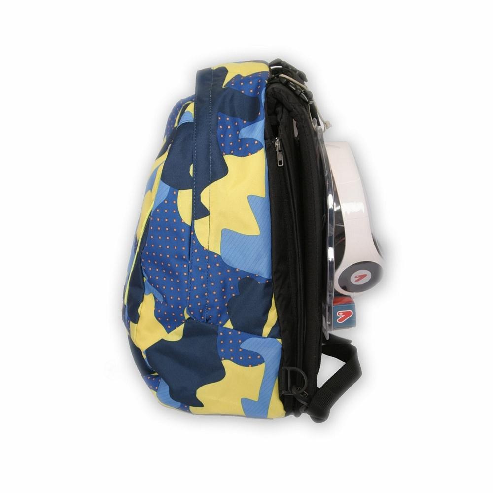 aad0c9c7bf Seven - Zaino Reversibile The Double Pack - Colore Camo Azzurro Giallo Blu  Blue Grigio Mimetico. ‹ ›